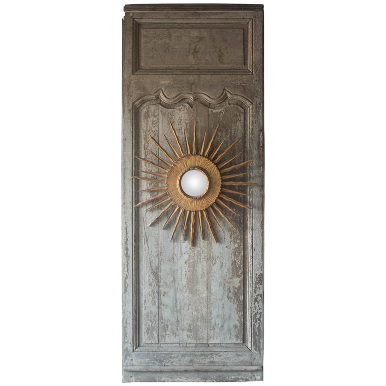 18th Century French Panel or Door with Soleil