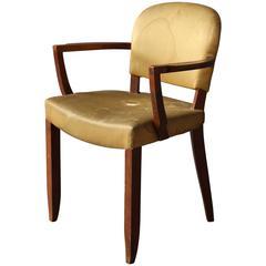 fine french art deco mahogany bridge armchair by leleu art deco desk chair office side armchair