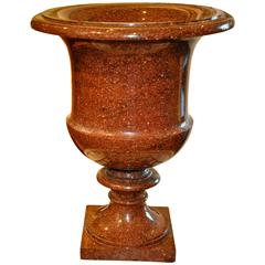 Large Early 19th Century Swedish Porphyry Campagna Form Urn