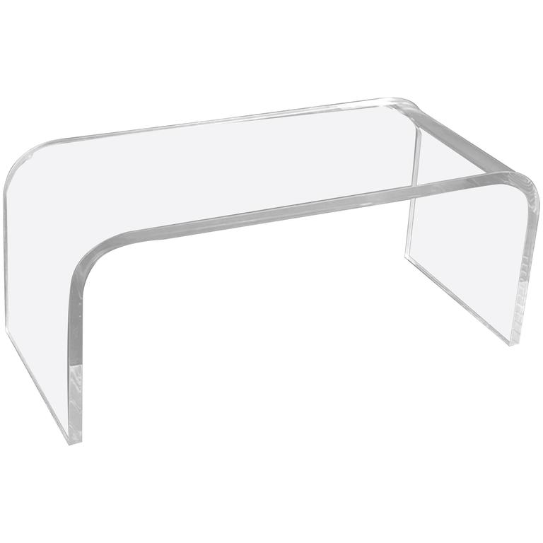 Very Chic Lucite Coffee Table in the Manner of Jean-Michel Frank