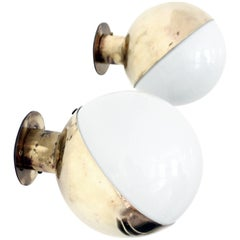 Original Pair of Brass Wall Lights by Vilhelm Lauritzen for Radiohuset 1940s