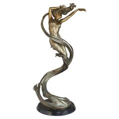 """Spin Drift"" Bronze Sculpture by Jerry Joslin, Edition 36 of 54"