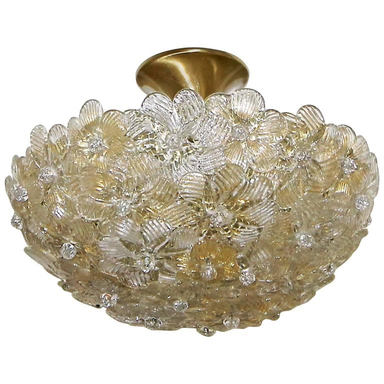 Murano glass floral semi flush mount ceiling pendant light for sale murano glass floral semi flush mount ceiling pendant light for sale aloadofball Choice Image