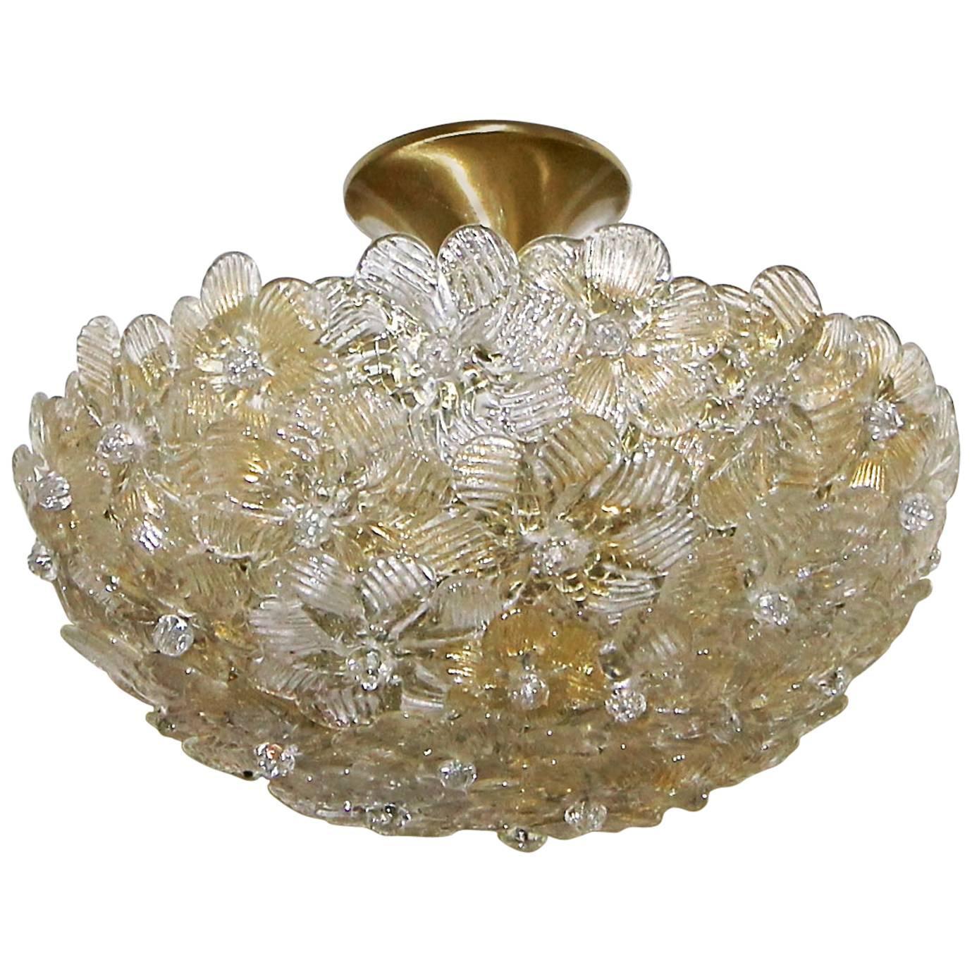 Murano barovier glass floral semi flush mount ceiling pendant murano glass floral semi flush mount ceiling pendant light aloadofball Images