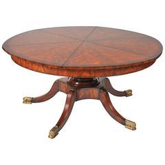 Flame Mahogany Segmented Circular Extending Table