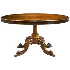 19th Century Victorian Rosewood Tilt-Top Table