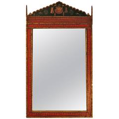 "Architectural Indian Mirror, 60.5"" x 34.5"""