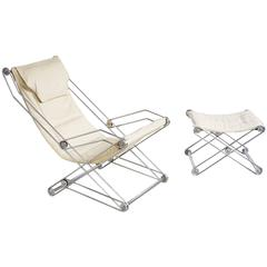 Italian Sling Chair and Ottoman