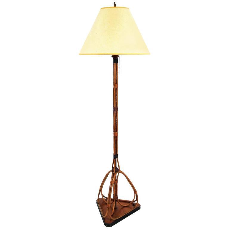 Vintage Rattan Floor Lamp At 1stdibs