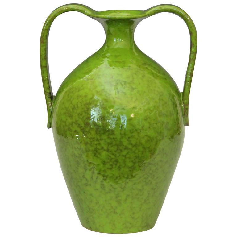 Vintage Italica Ars 1960 S Italian Art Pottery Vase In Lime Green Glaze For