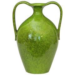 Vintage Italica Ars 1960's Italian Art Pottery Vase in Lime Green Glaze