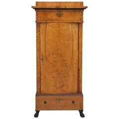 Antique Swedish Empire Pedestal Cabinet in Polished Birch, circa 1810