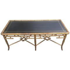 Faux Bamboo Giltwood Coffee Table