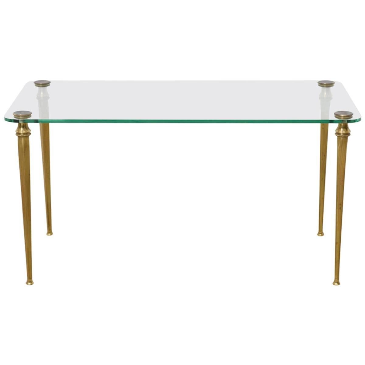 Brass Elegant Coffee, Cocktail Table, France, 1970s