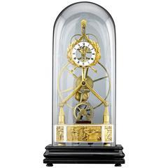 19th Century Great Wheel Skeleton Clock