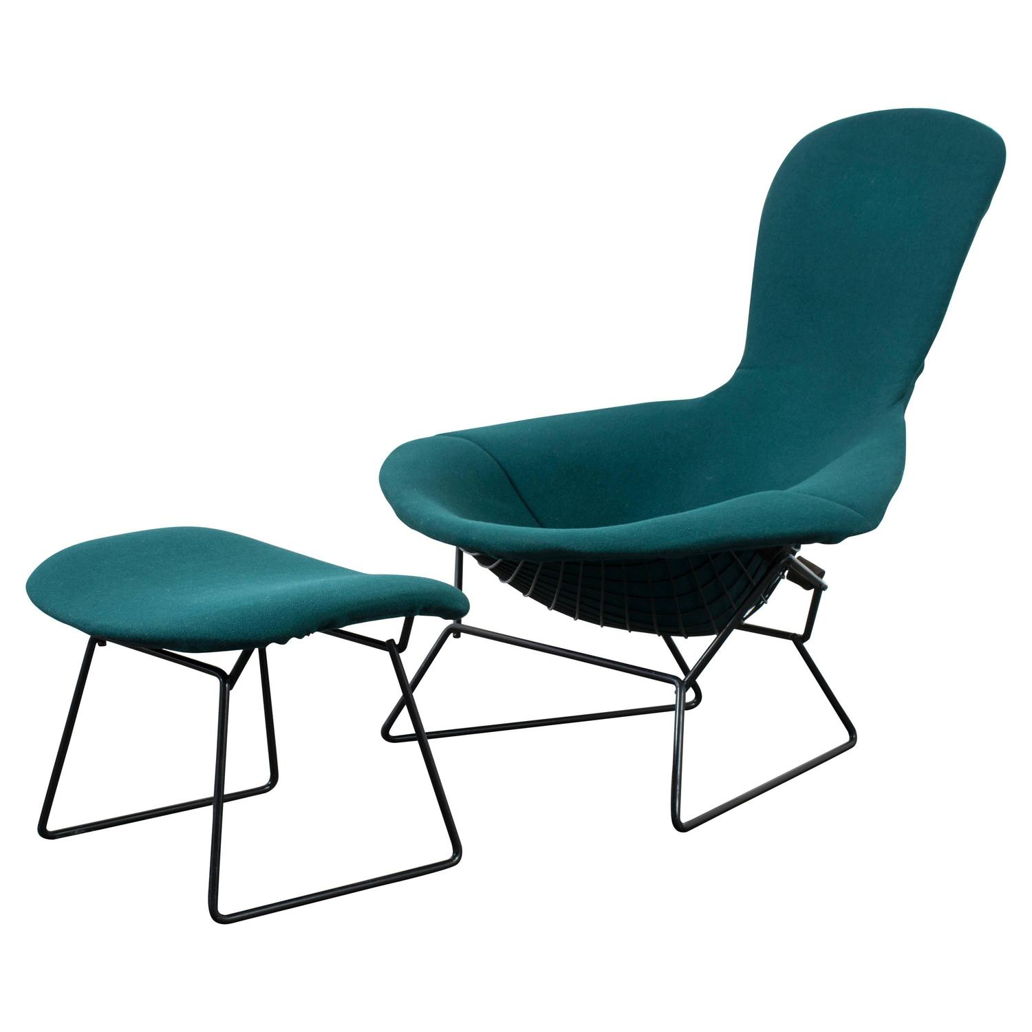 Vintage Bird Chair and Ottoman by Harry Bertoia for Knoll at 1stdibs