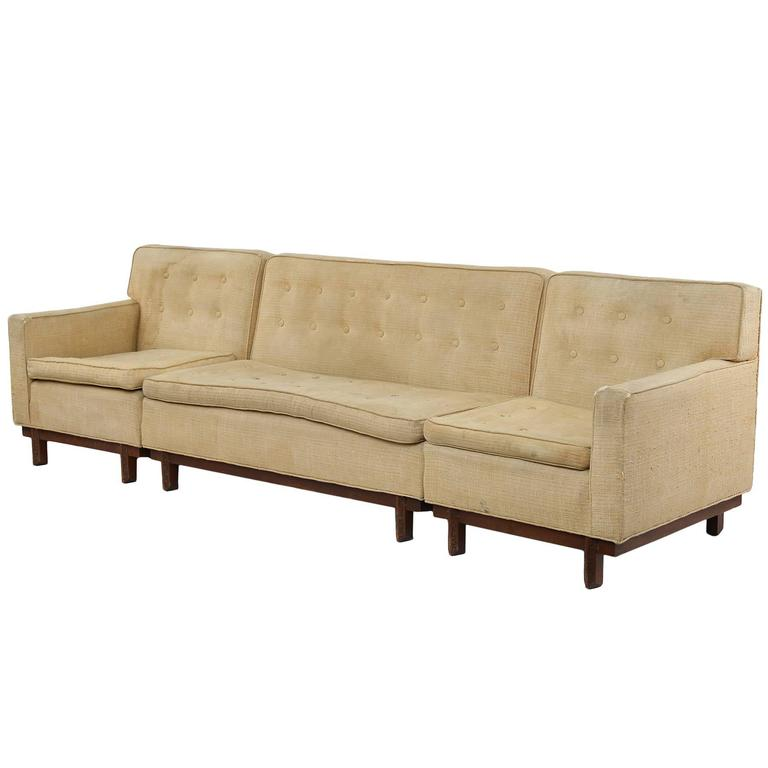 Frank Sectional Sofa Bed: Rare Frank Lloyd Wright Taliesin Sofa At 1stdibs
