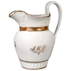 Rare Early 19th Century American Porcelain Pitcher by Tucker & Hemphill