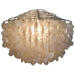 Big Fun Shell Chandelier Attributed to Verner Panton