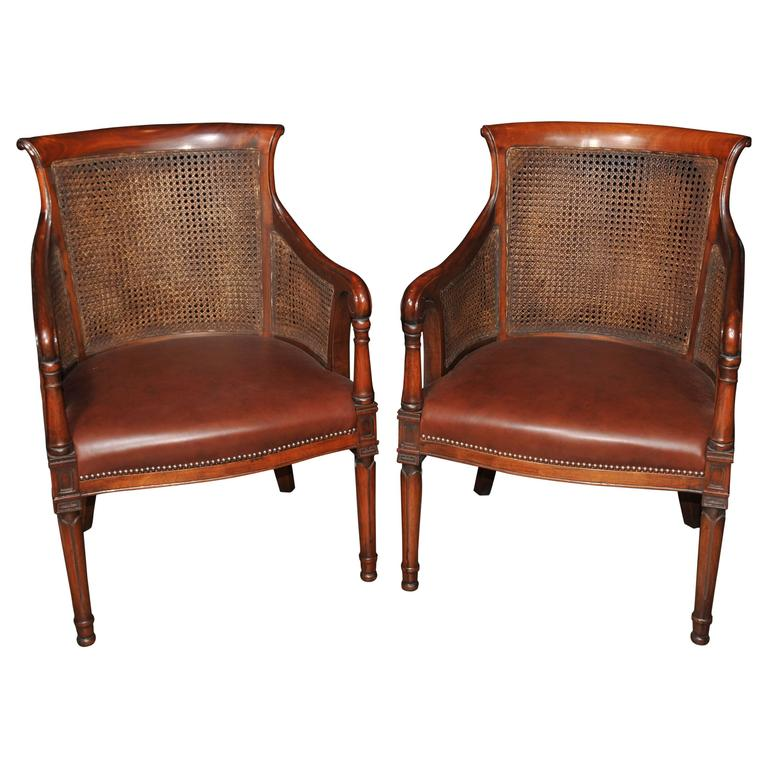 pair of french bergere armchairs fauteuils at 1stdibs. Black Bedroom Furniture Sets. Home Design Ideas