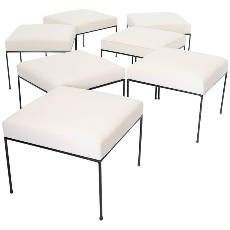 Large Collection of Paul McCobb Ottoman or Stools 1