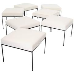 Large Collection of Paul McCobb Ottoman or Stools