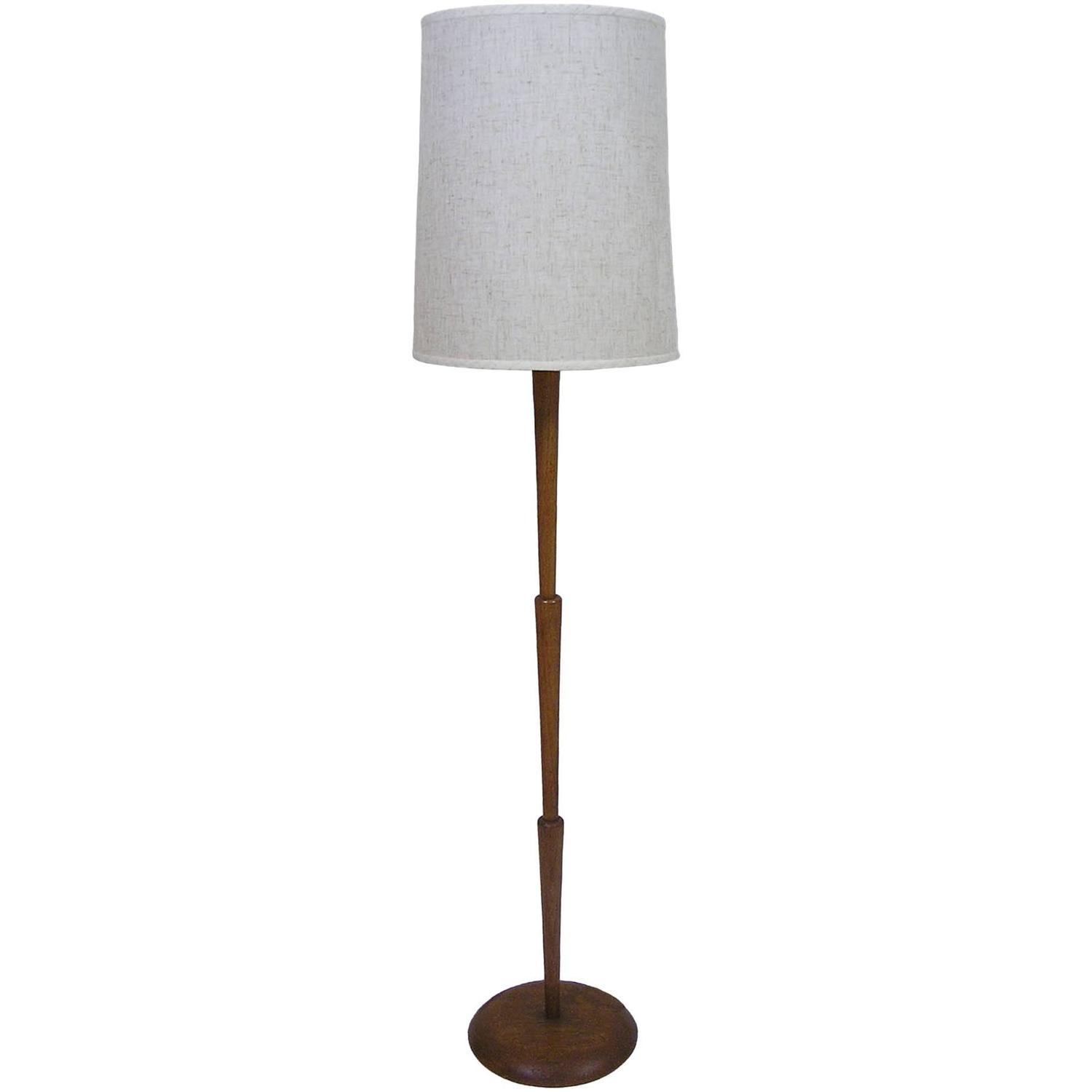 1970s sculpted teak floor lamp at 1stdibs for Tree floor lamp canada