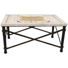 Fine Italian Inlaid Marble Low Table