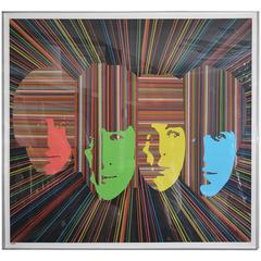 Lithograph of the Beatles by Mauro Oliveira