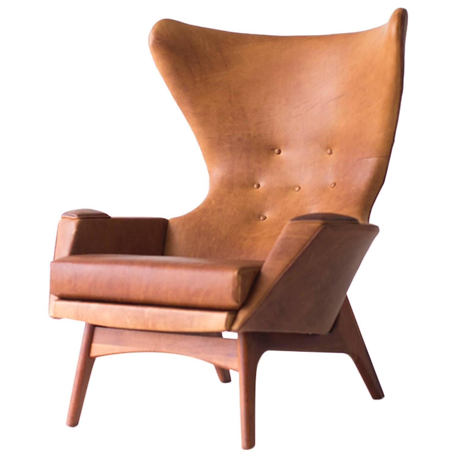 Superbe Adrian Pearsall Large Wing Chair For Craft Associates Inc. Model 2231 C At  1stdibs