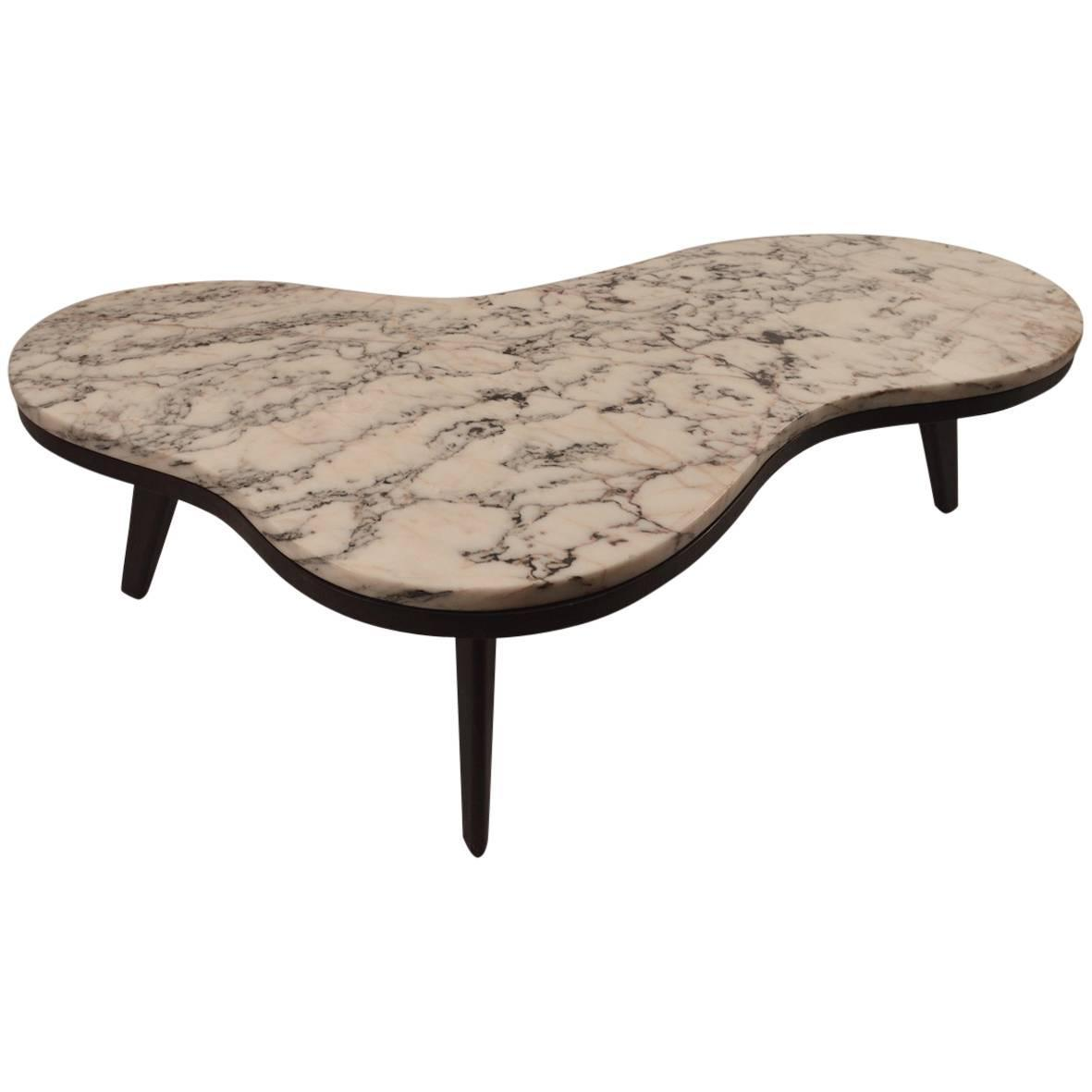 Free Form Marble Top Coffee Table At 1stdibs