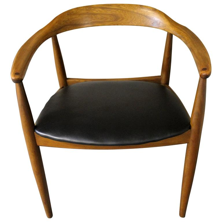 Hans Wegner Style Danish Modern 'Round Chair' At 1stdibs