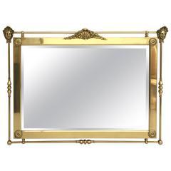 Neoclassical Brass Mirror