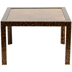 Faux Tortoise and Brass Occasional Table by Widdicomb