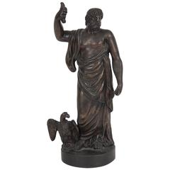 18th Century Figural Bronze Sculpture of Zeus