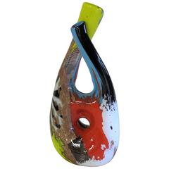 Dino Martens, Murano Glass Vase Oriente, Made by Rag. Aureliano Toso, circa 1952