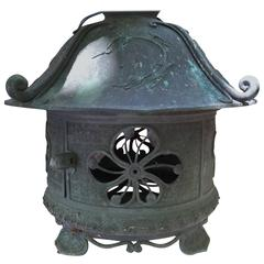 Japanese Antique Bronze Lantern