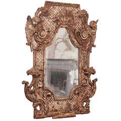 18th Century Italian Silver Leaf Mirror