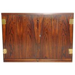 Wall-Mounted Rosewood Bar Cabinet by Svend Langkilde