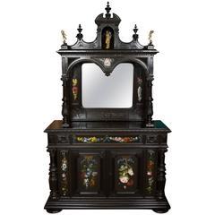 Fine Renaissance Style Ebonized Cabinet