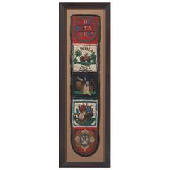 Framed 1857 Beadwork from the Royal Regiment of India
