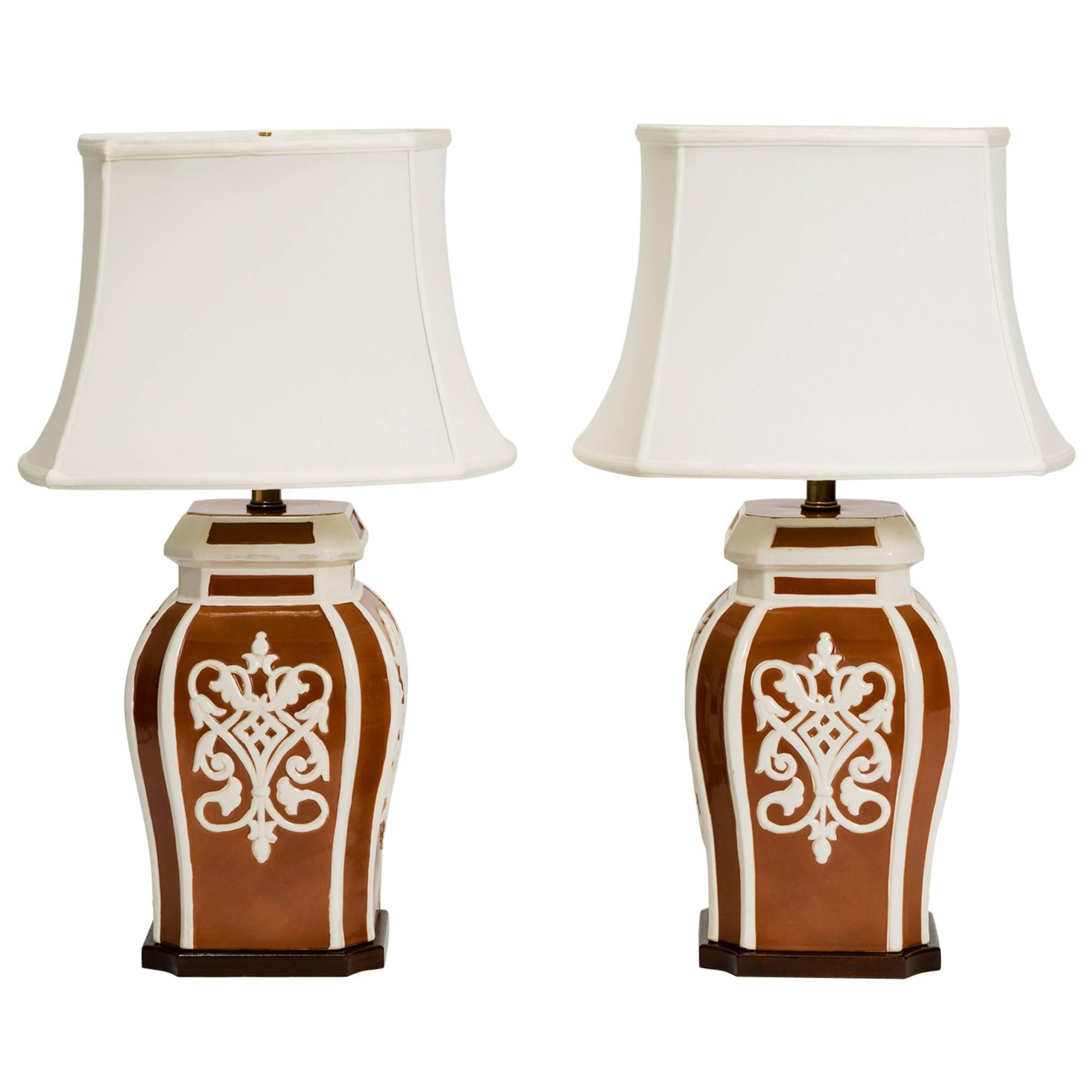 Pair of Frederick Cooper Ginger Jar Lamps
