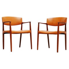 Ejnar Larsen and Aksel Bender Madsen Willy Beck Armchairs, 1951