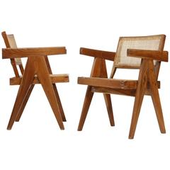 Pierre Jeanneret Set of Two Armchairs