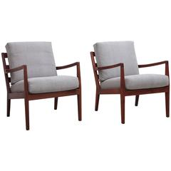 Pair of Rare Arden Riddle Lounge Chairs
