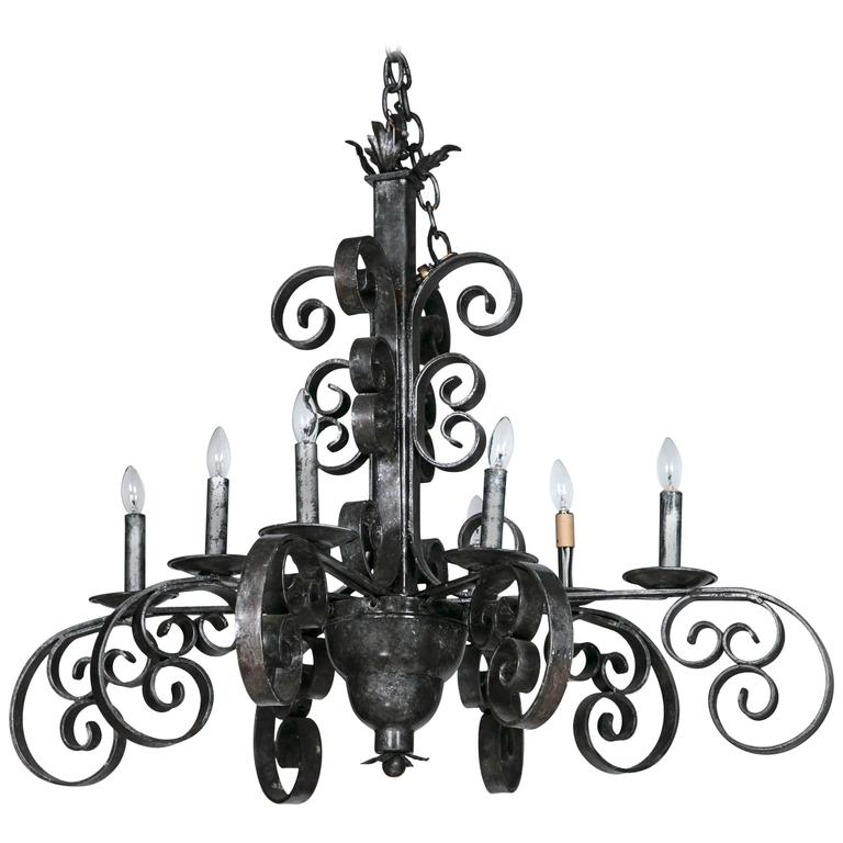 cast iron industrial chandelier at 1stdibs