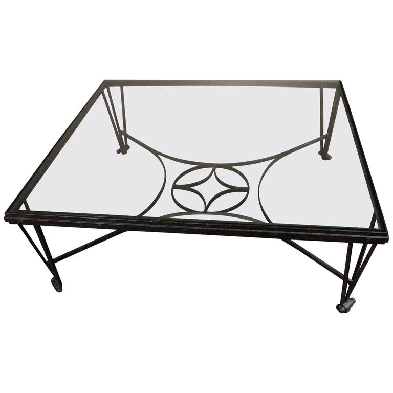 Fine Forged Iron H-Form Cocktail Table