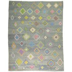 Vintage Inspired Turkish Tulu Rug