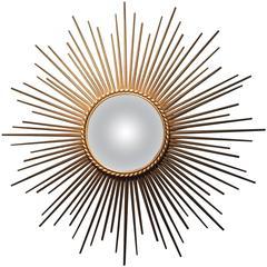 Chaty Vallauris Brass Sunburst Mirror
