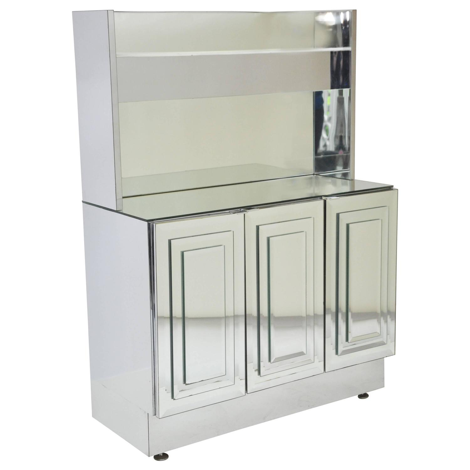Ello cabinet with upper lit shelf for sale at 1stdibs for Upper cabinets for sale